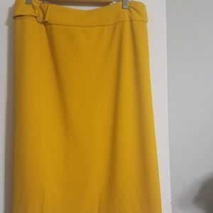 Plus size mustard colored skirt